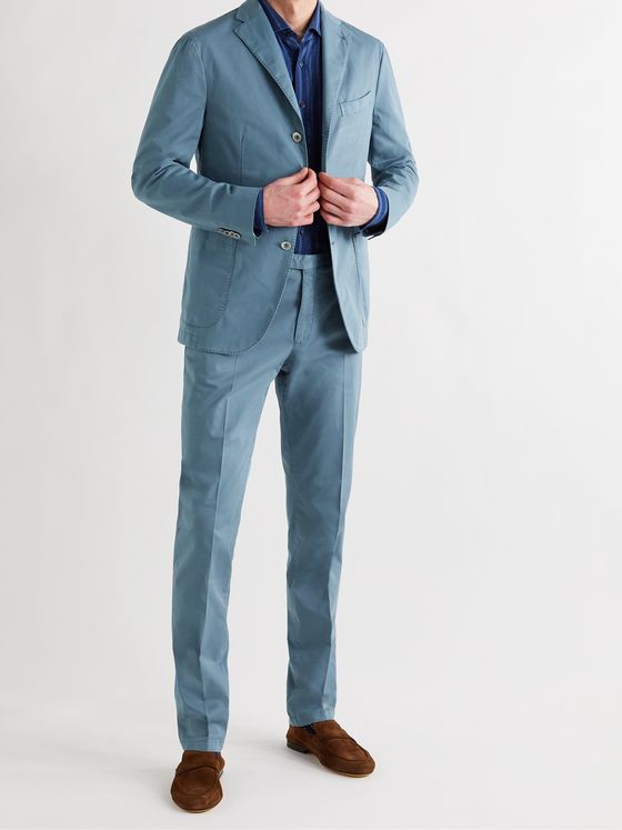 BOGLIOLI Slim-Fit Unstructured Cotton-Blend Twill Suit Jacket