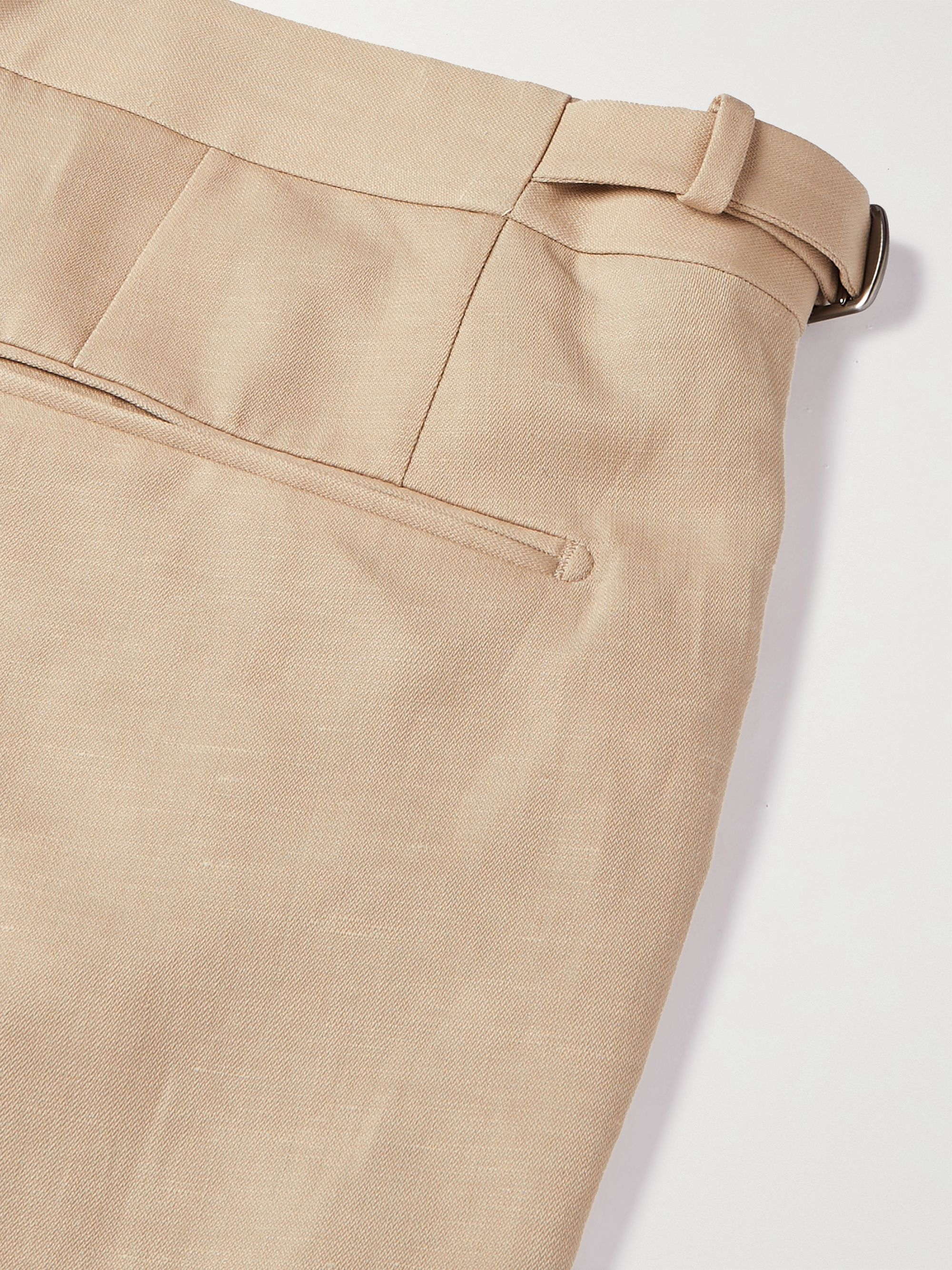 ERMENEGILDO ZEGNA Slim-Fit Wool and Linen-Blend Trousers