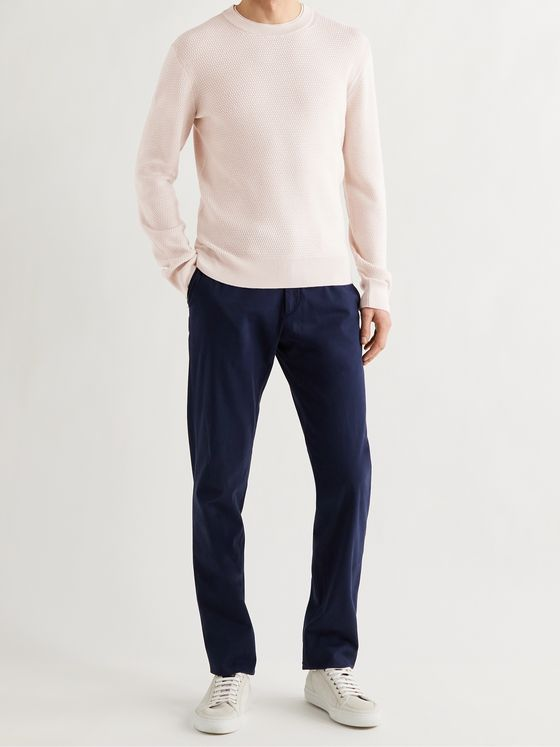 ERMENEGILDO ZEGNA High Performance Waffle-Knit Wool Sweater