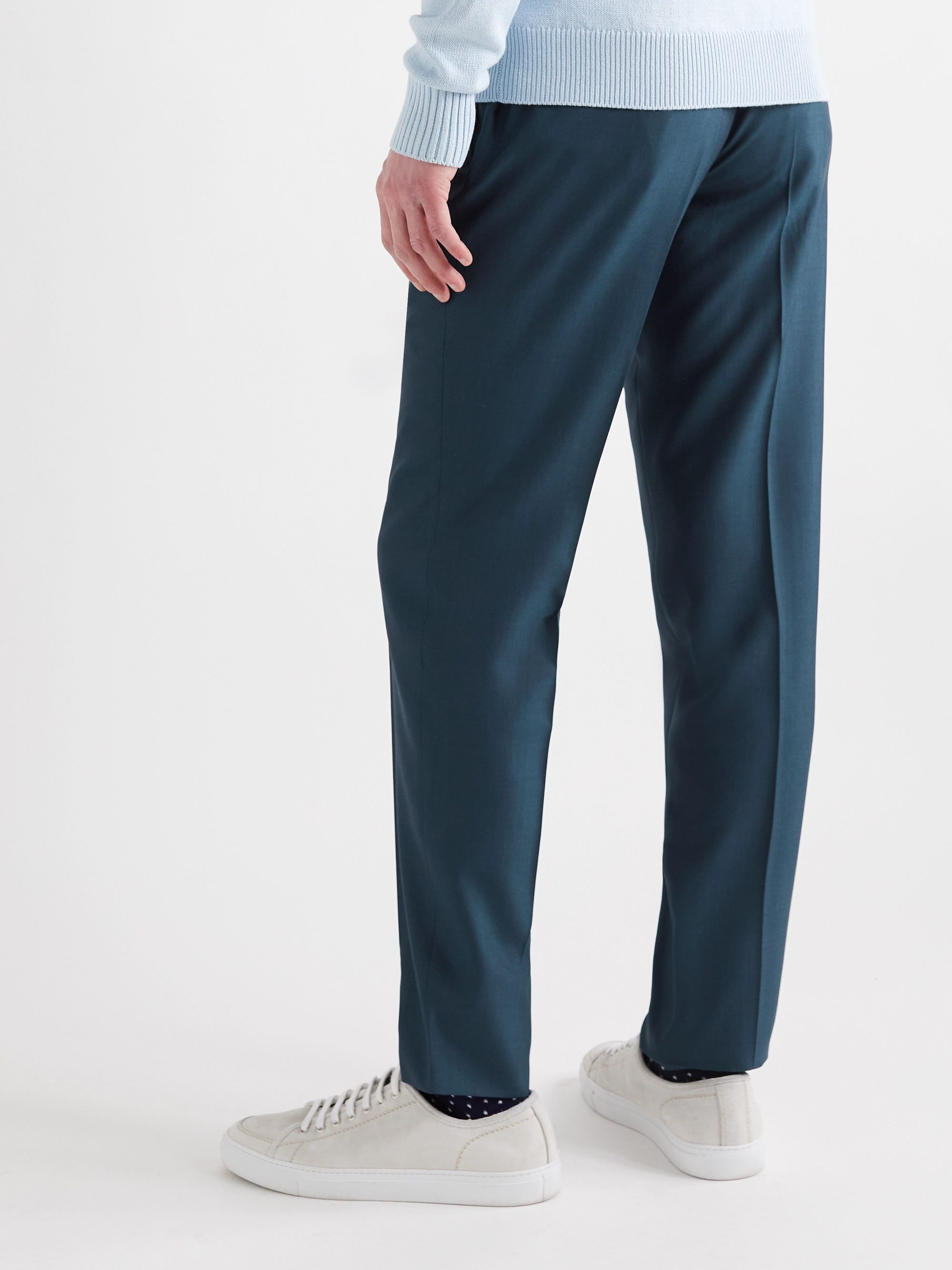 ERMENEGILDO ZEGNA City Slim-Fit Wool and Silk-Blend Trousers