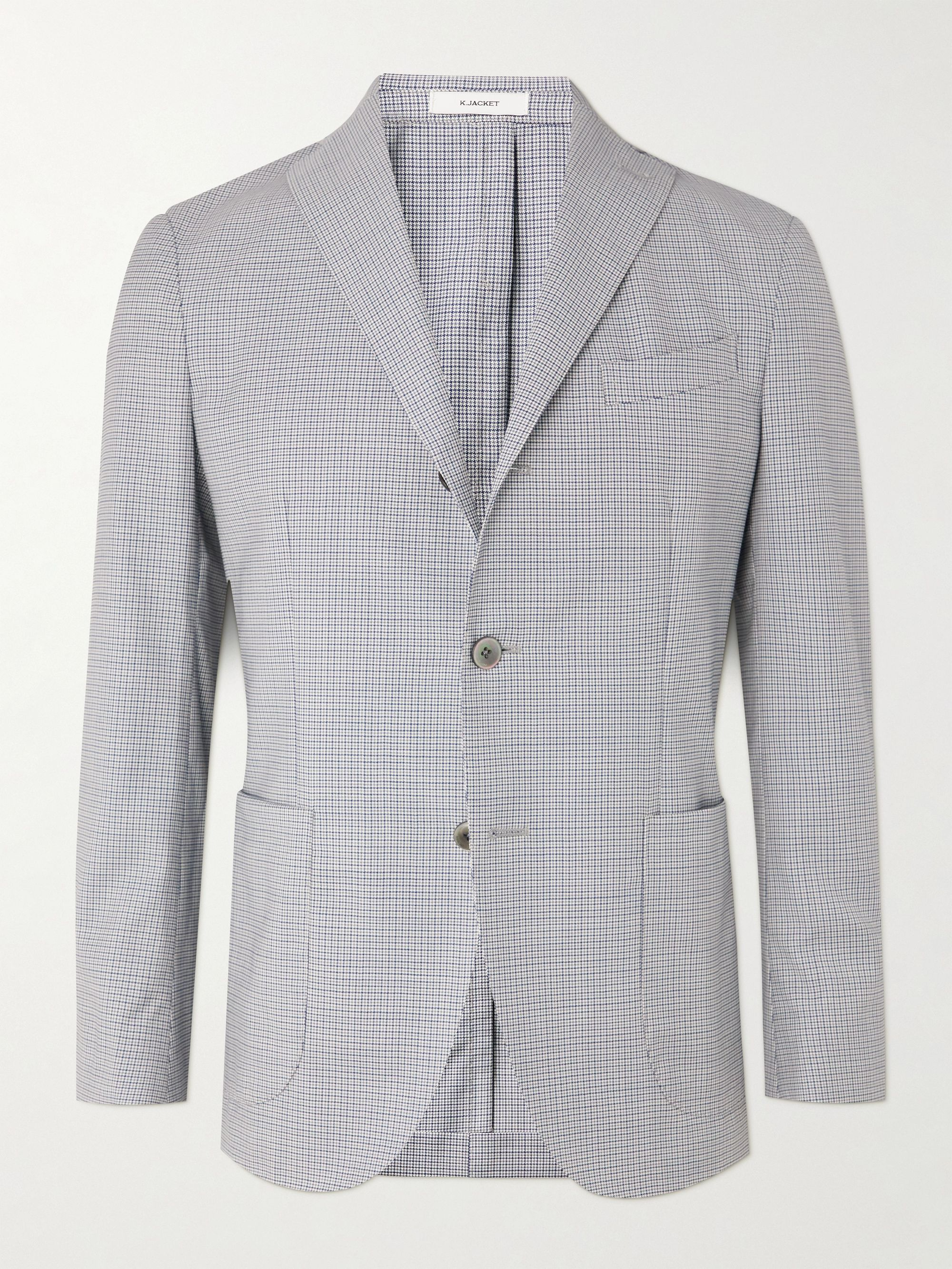 BOGLIOLI Houndstooth Virgin Wool Suit Jacket