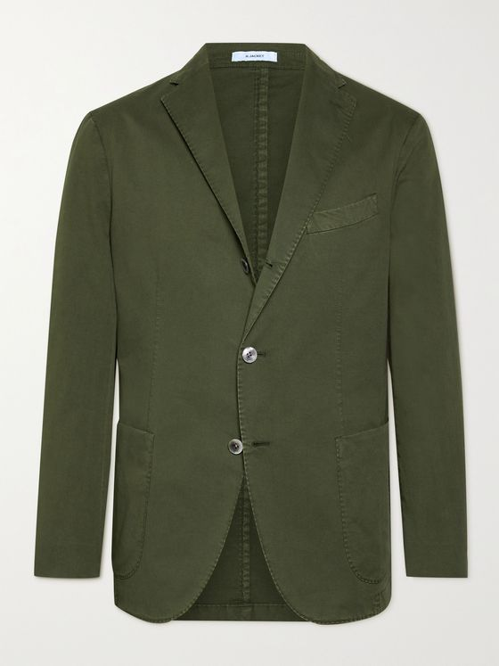 BOGLIOLI Unstructured Cotton-Blend Twill Suit Jacket
