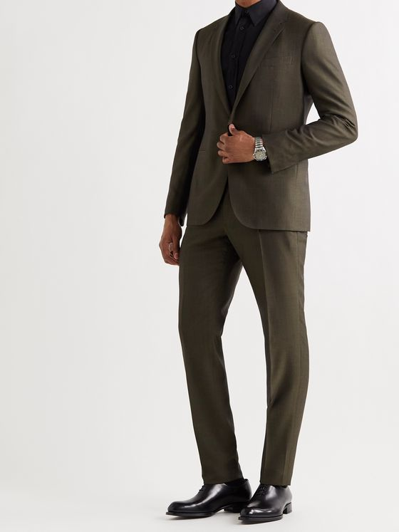 ERMENEGILDO ZEGNA Slim-Fit Wool and Silk-Blend Suit