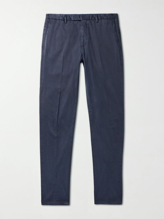BOGLIOLI TENCEL and Cotton-Blend Twill Trousers