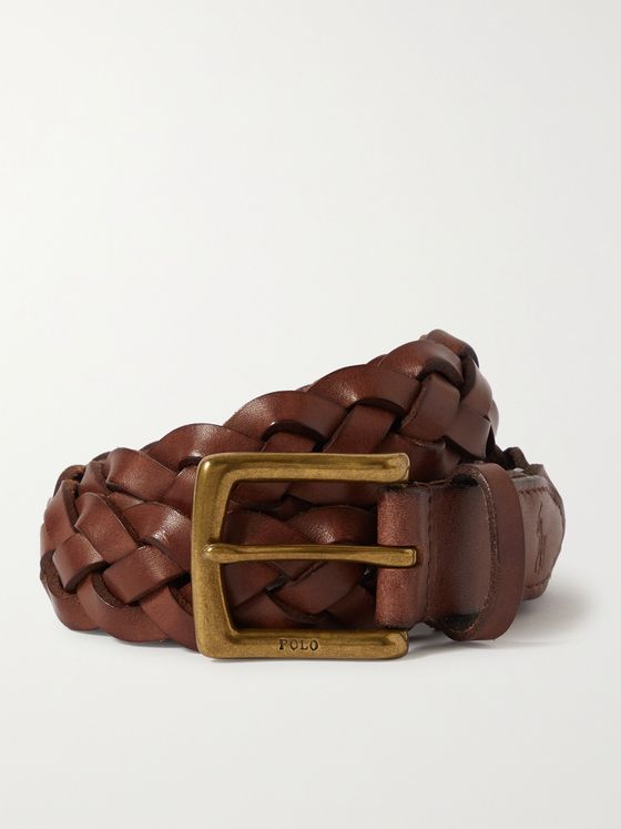 POLO RALPH LAUREN 3cm Braided Leather Belt