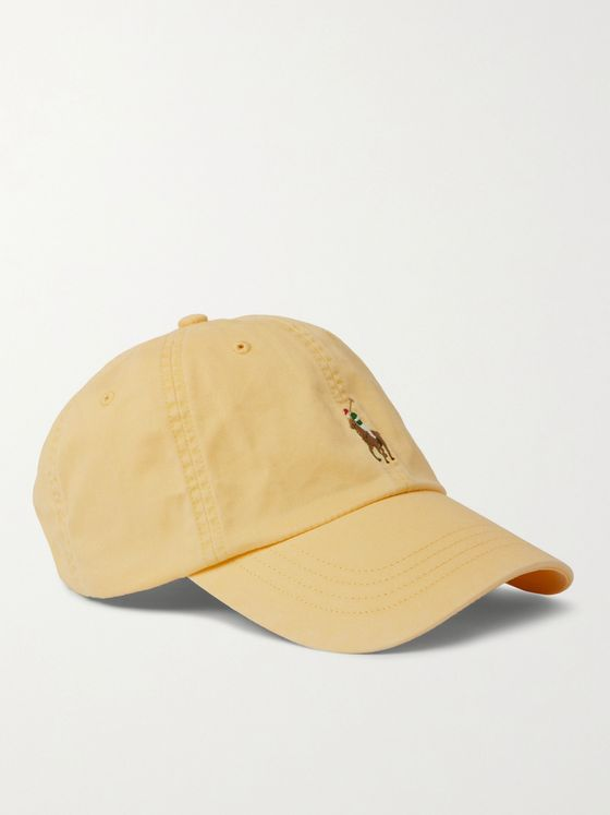 POLO RALPH LAUREN Logo-Embroidered Stretch-Cotton Twill Baseball Cap