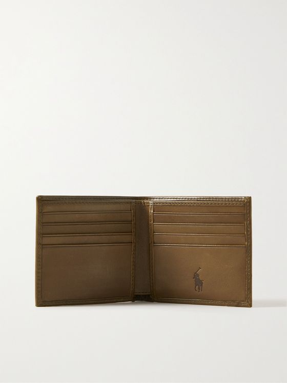 POLO RALPH LAUREN Logo-Print Leather Billfold Wallet
