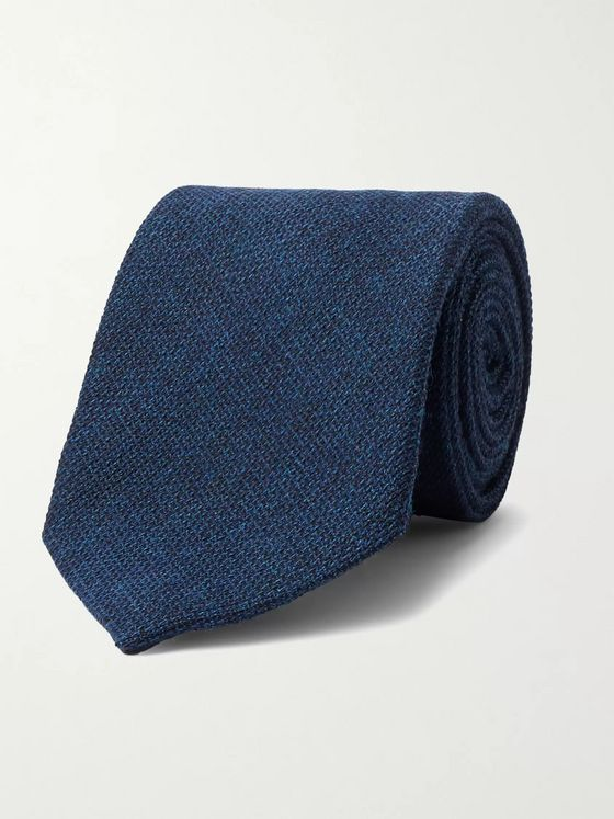 Anderson & Sheppard 9cm Wool and Silk-Blend Tie