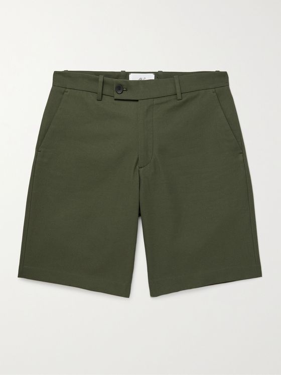 MR P. Cotton and Cashmere-Blend Shorts