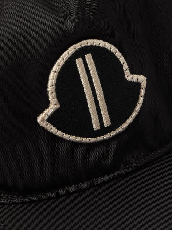 Rick Owens + Moncler Logo-Appliquéd Fleece-Lined Shell Baseball Cap