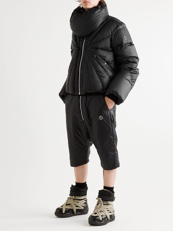 Rick Owens + Moncler Tonopah Logo-Appliquéd Quilted Shell Down Jacket