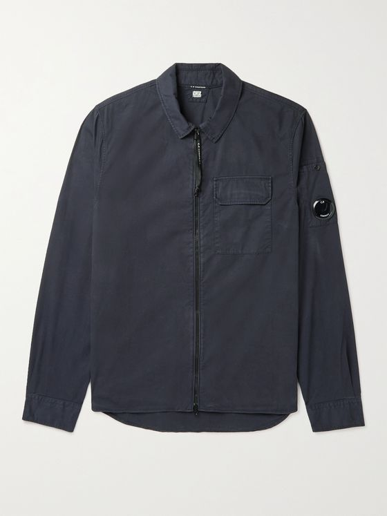 C.P. COMPANY Slim-Fit Garment-Dyed Cotton-Gabardine Overshirt