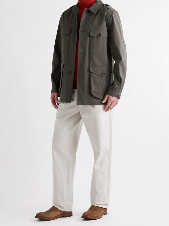 PRIVATE WHITE V.C. The Safari Brushed Cotton-Twill Jacket