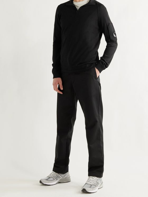 C.P. COMPANY Sea Island Cotton Half-Zip Sweater