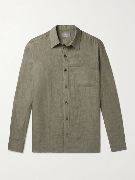 PRIVATE WHITE V.C. Linen Shirt
