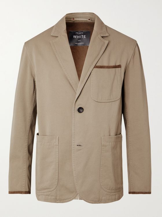PRIVATE WHITE V.C. Cotton-Twill Blazer