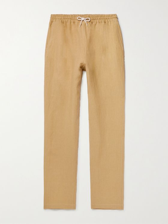 DE BONNE FACTURE Washed Linen Drawstring Trousers