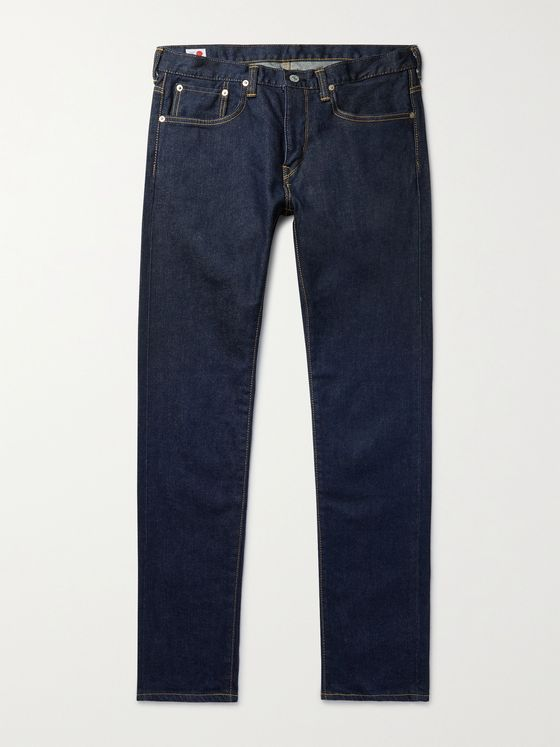 EDWIN Slim-Fit Tapered Stretch-Denim Jeans