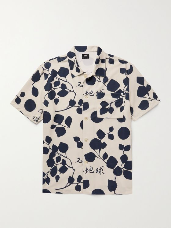 EDWIN Moment of Bliss Printed Stretch-Piqué Shirt