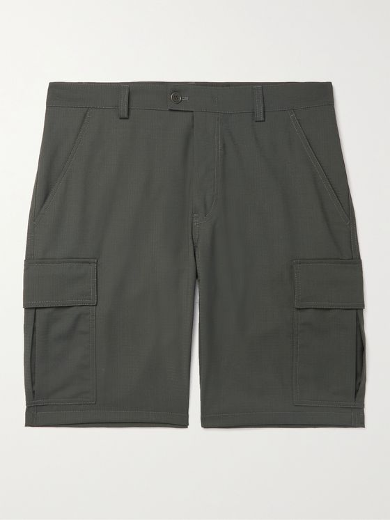 ASPESI Cotton-Ripstop Cargo Shorts