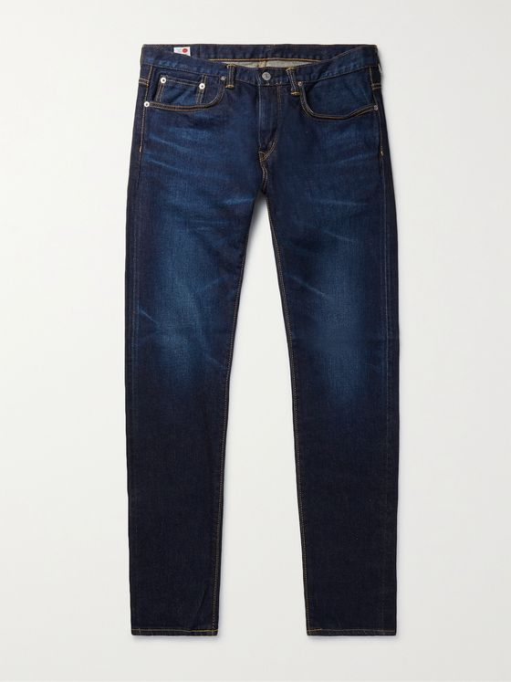 EDWIN Kaihara Slim-Fit Tapered Selvedge Stretch-Denim Jeans