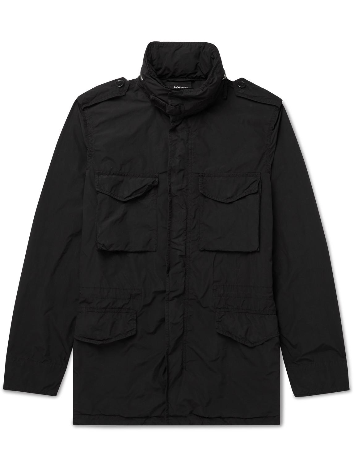 Aspesi - Shell Hooded Field Jacket - Men - Black - Xs