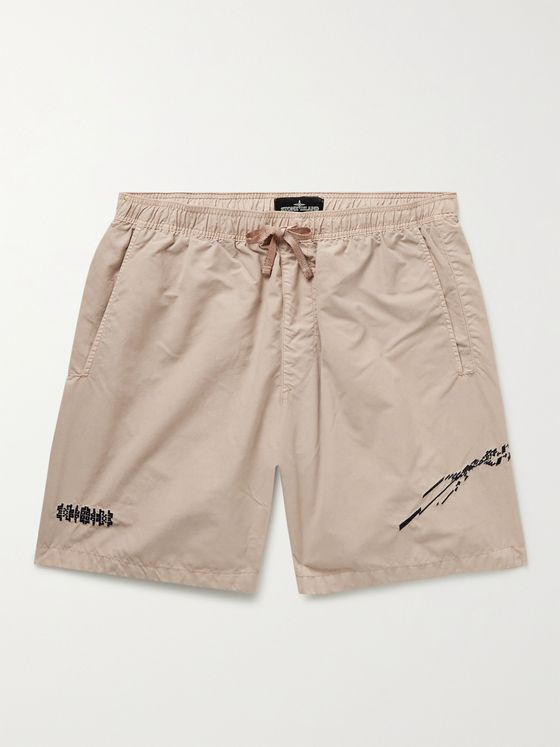 STONE ISLAND SHADOW PROJECT Mid-Length Embroidered Swim Shorts