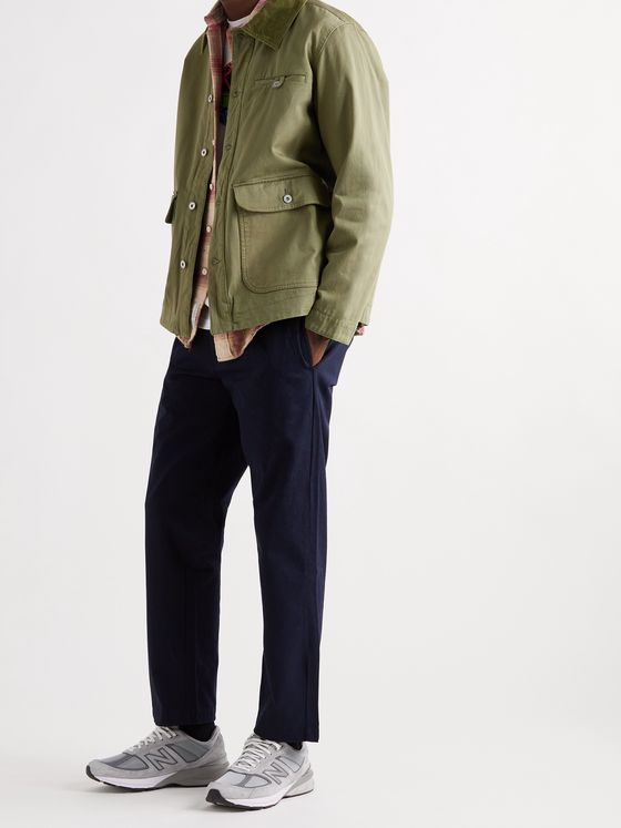 ADSUM Corduroy-Trimmed Cotton-Twill Chore Jacket