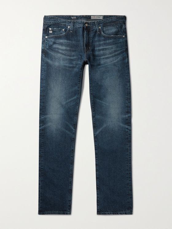 AG JEANS Tellis Slim-Fit Distressed Denim Jeans