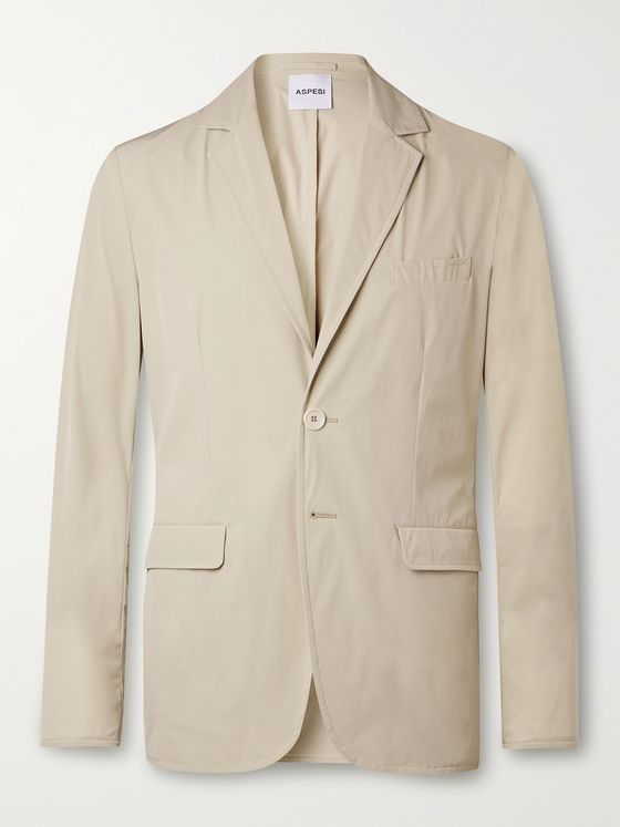 ASPESI Unstructured Slim-Fit Stretch-Shell Blazer