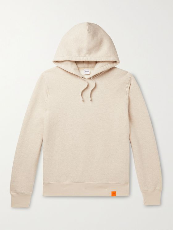 ASPESI Mélange Fleece-Back Cotton-Jersey Hoodie