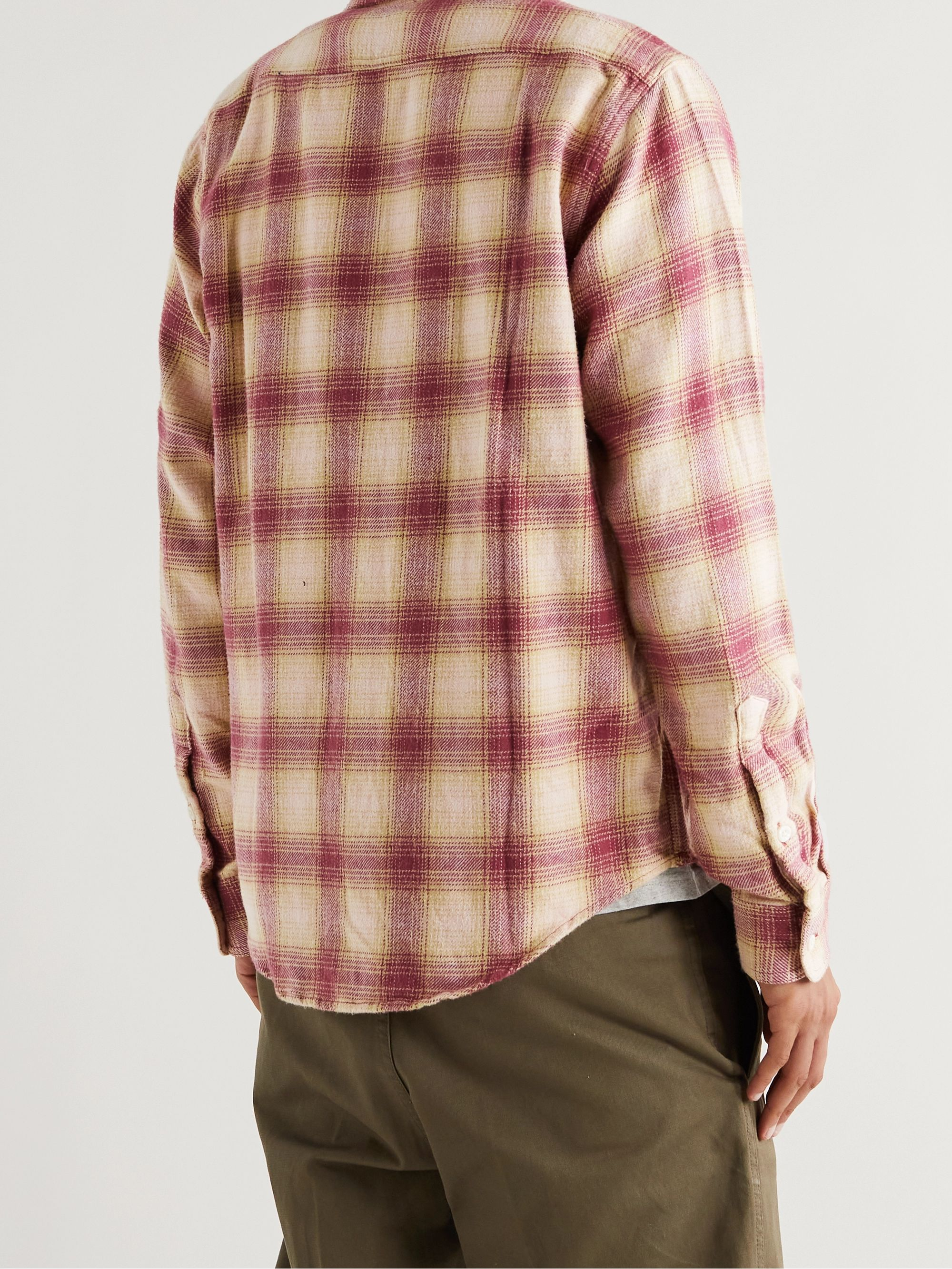 ADSUM Seasonal Shadow Checked Cotton-Flannel Shirt
