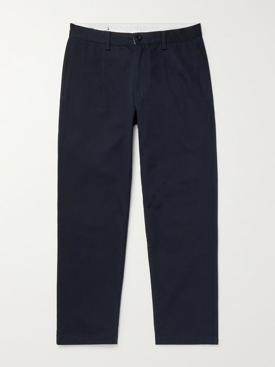 ADSUM Hogan Garment-Dyed Cotton-Twill Trousers