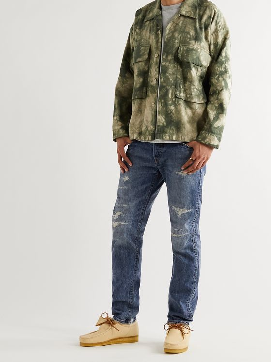 EDWIN Tapered Distressed Selvedge Denim Jeans