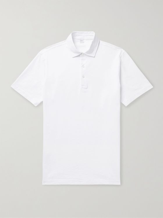 ASPESI Cotton-Jersey Polo Shirt