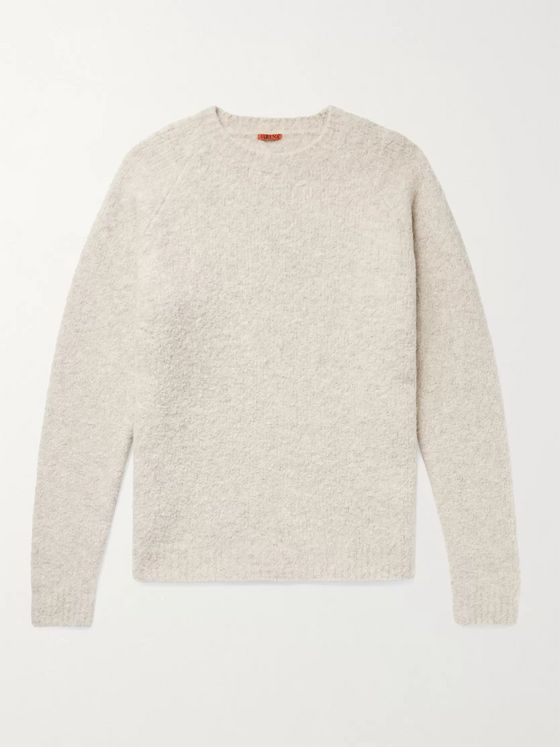 Barena Golena Mélange Brushed Wool-Blend Sweater