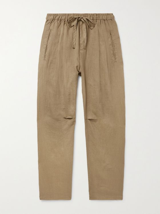 MASSIMO ALBA Key West Linen Drawstring Trousers