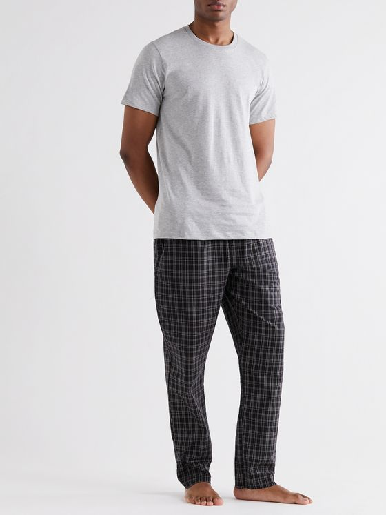 CALVIN KLEIN UNDERWEAR Checked Cotton Pyjama Trousers