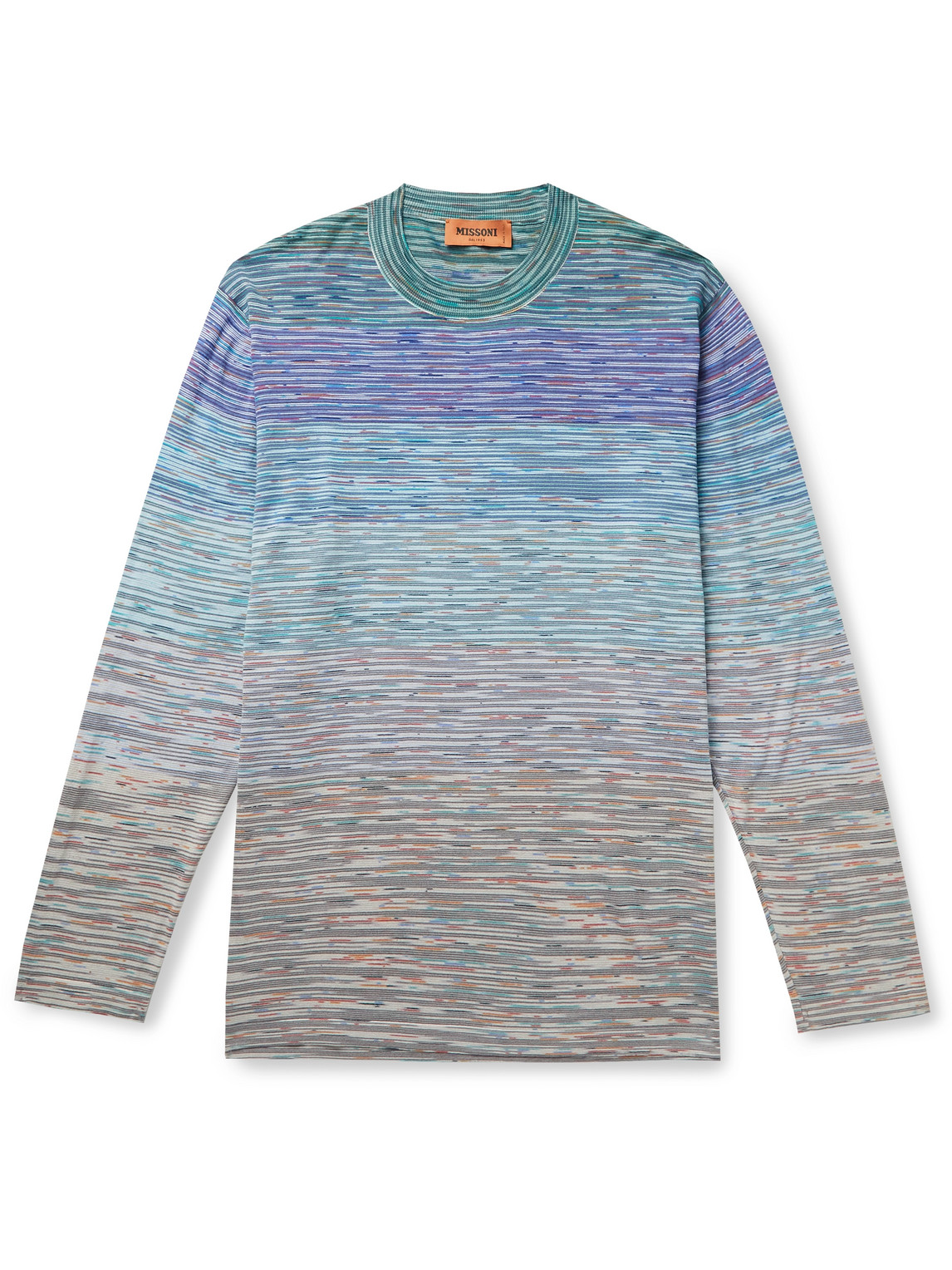 Missoni SPACE-DYED STRIPED COTTON SWEATER