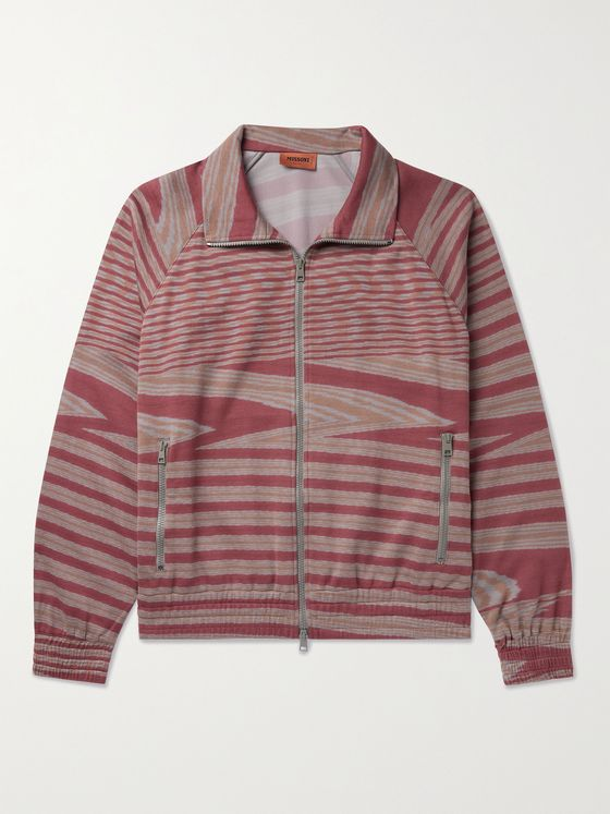 MISSONI Printed Cotton-Jersey Bomber Jacket