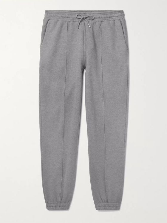 NINETY PERCENT Mélange Loopback Organic Cotton-Jersey Sweatpants