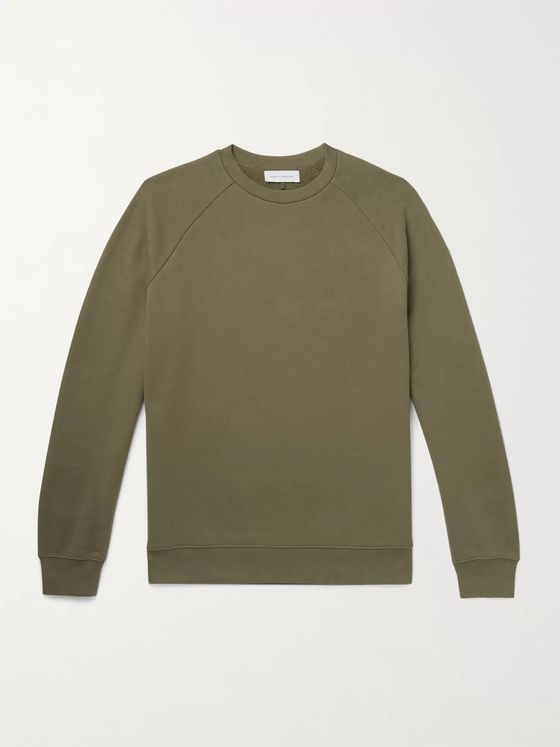 NINETY PERCENT Loopback Organic Cotton-Jersey Sweatshirt