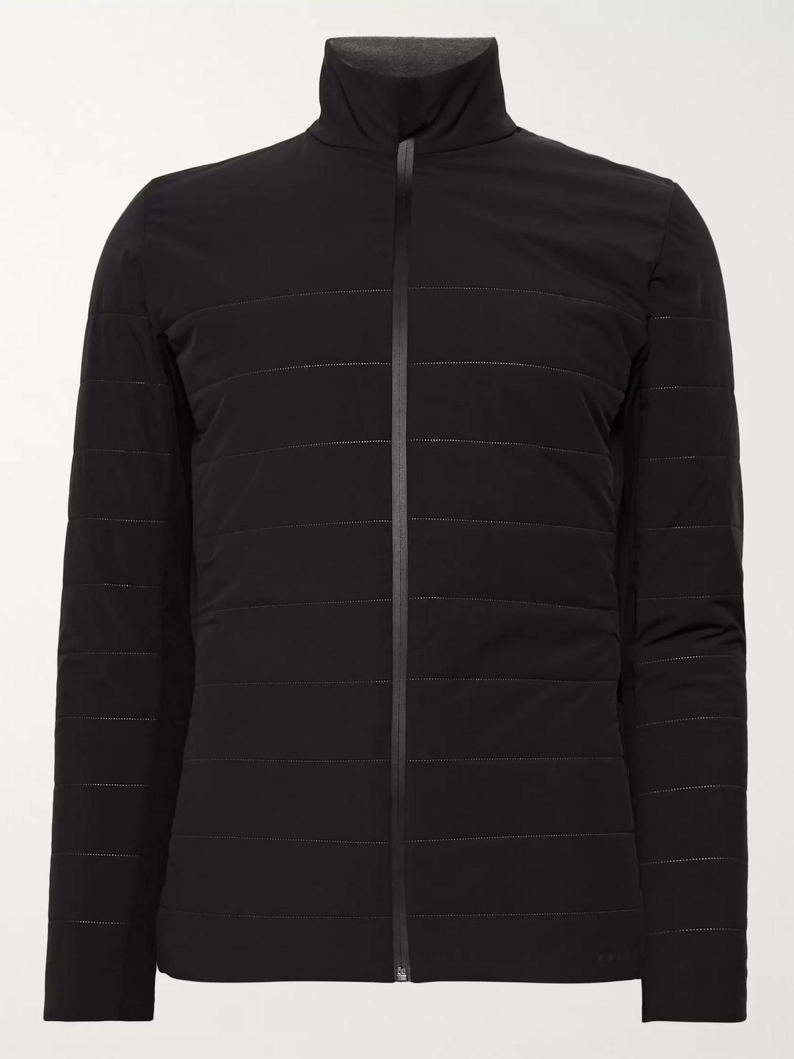 falke ergonomic sport system - shield quilted primaloft ski jacket - men - black