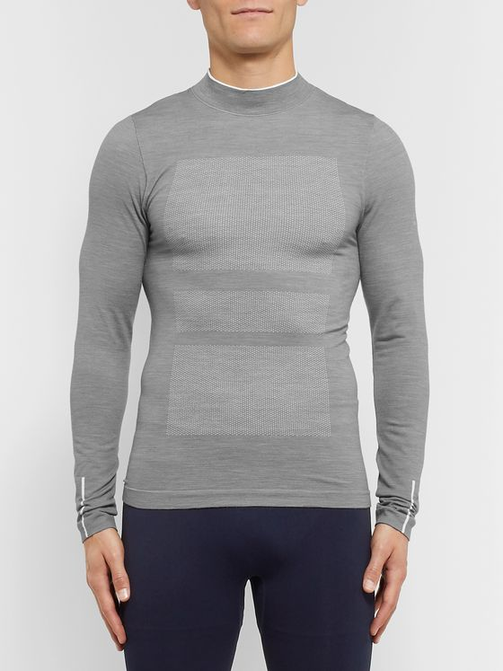 FALKE Ergonomic Sport System Stretch Virgin Wool-Blend Rollneck T-Shirt