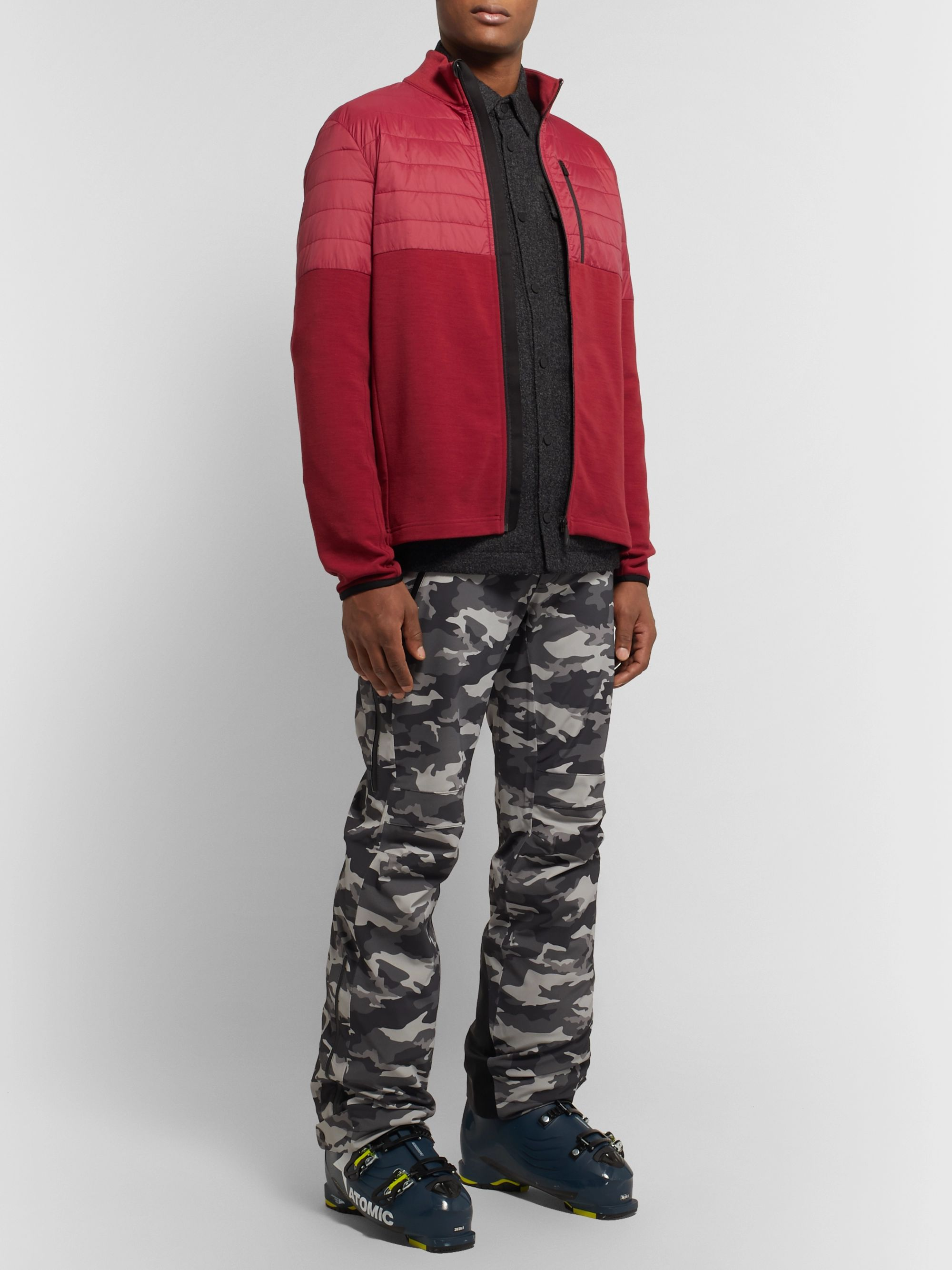 Aztech Mountain Smuggler Tech Fleece and Quilted Shell Zip-Up Ski Mid-Layer