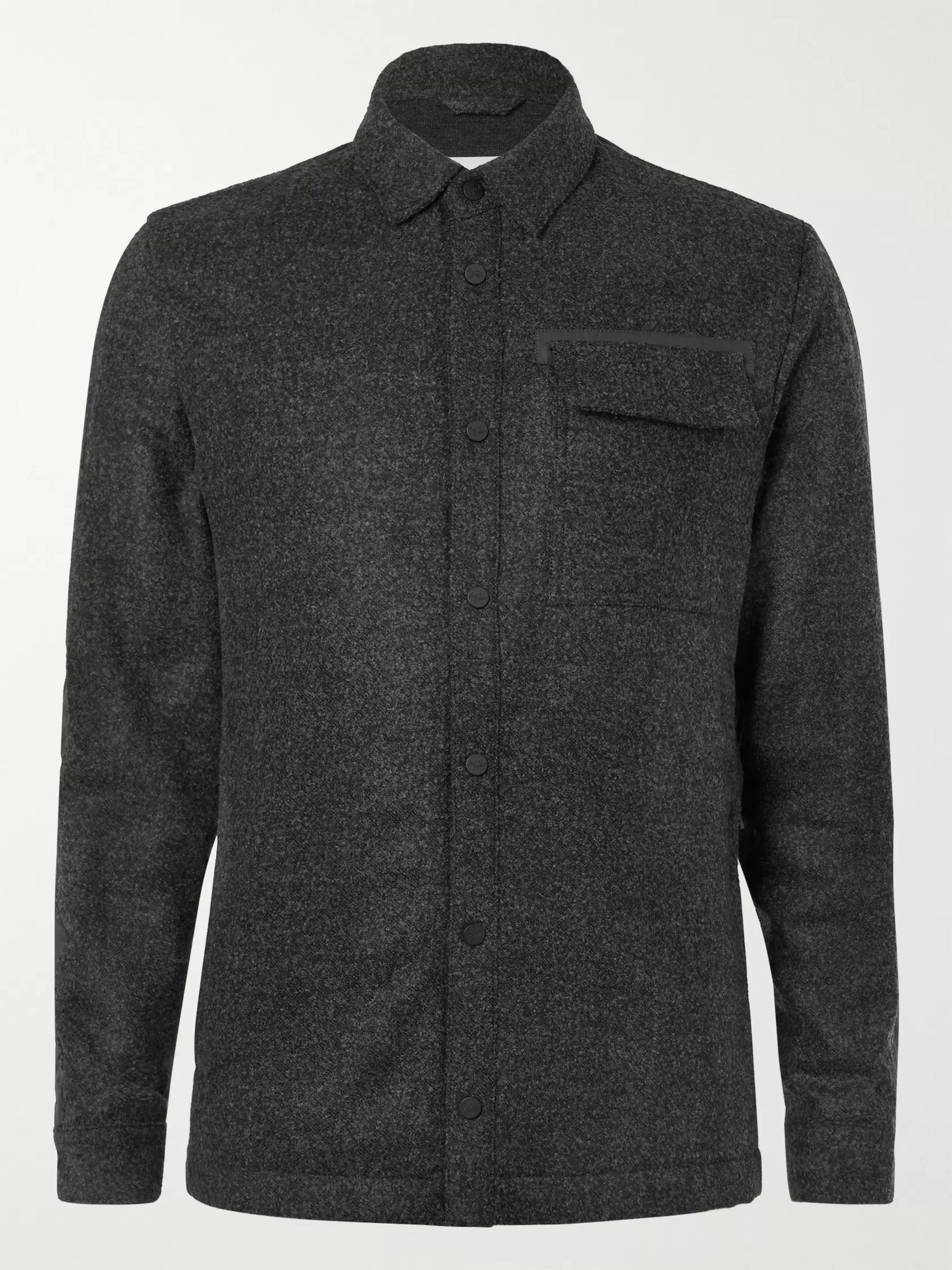Charcoal Sopris Panelled Wool and Nylon Shirt | Aztech Mountain | MR PORTER
