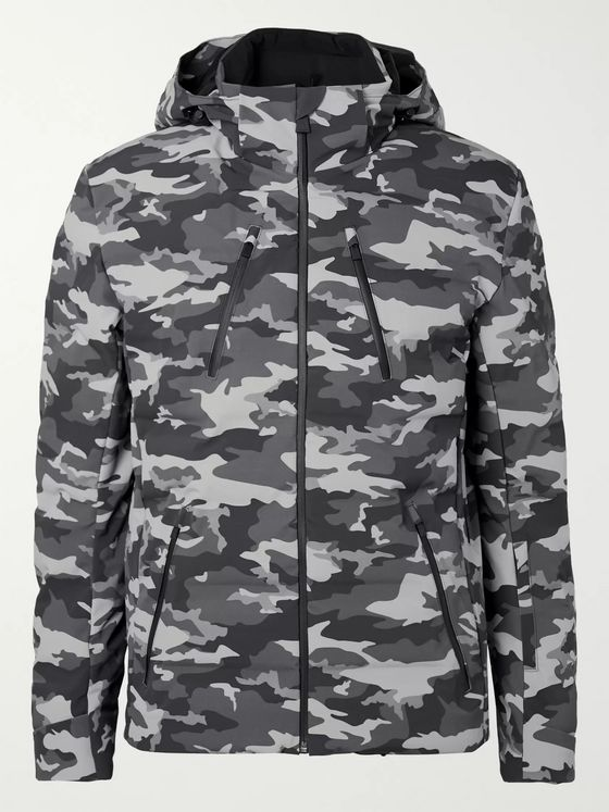 Aztech Mountain Nuke Suit Waterproof Camouflage-Print Hooded Down Ski Jacket