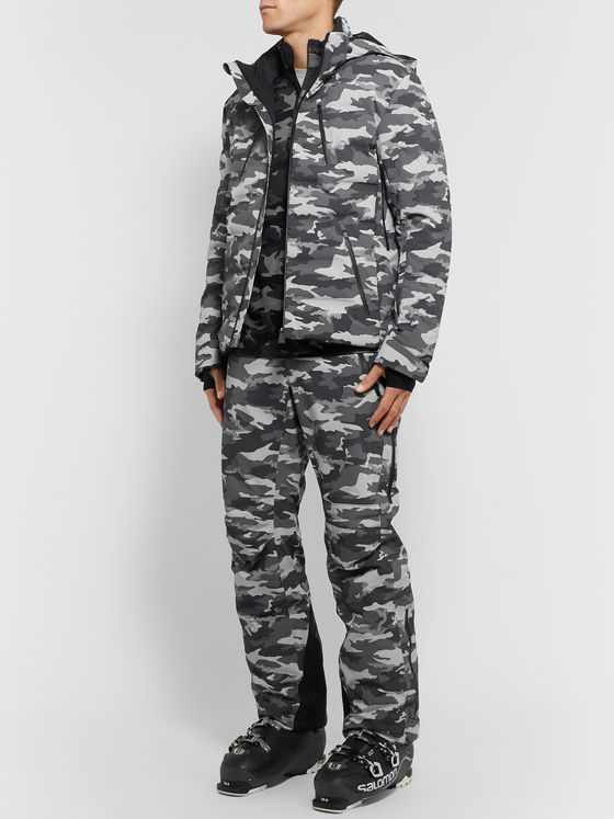 Aztech Mountain Team Aztech Waterproof Camouflage-Print Ski Trousers