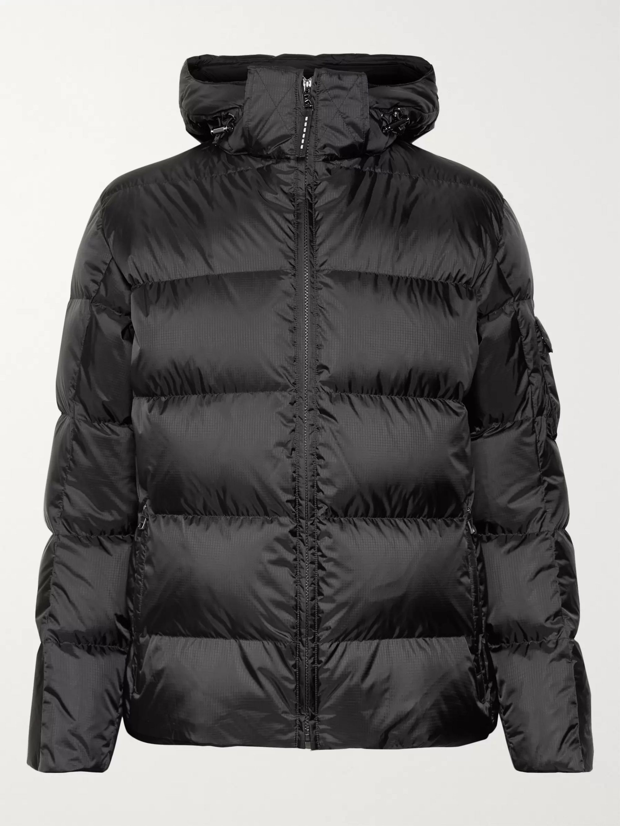Bogner Simon-D Suede-Trimmed Quilted Ripstop Hooded Down Ski Jacket