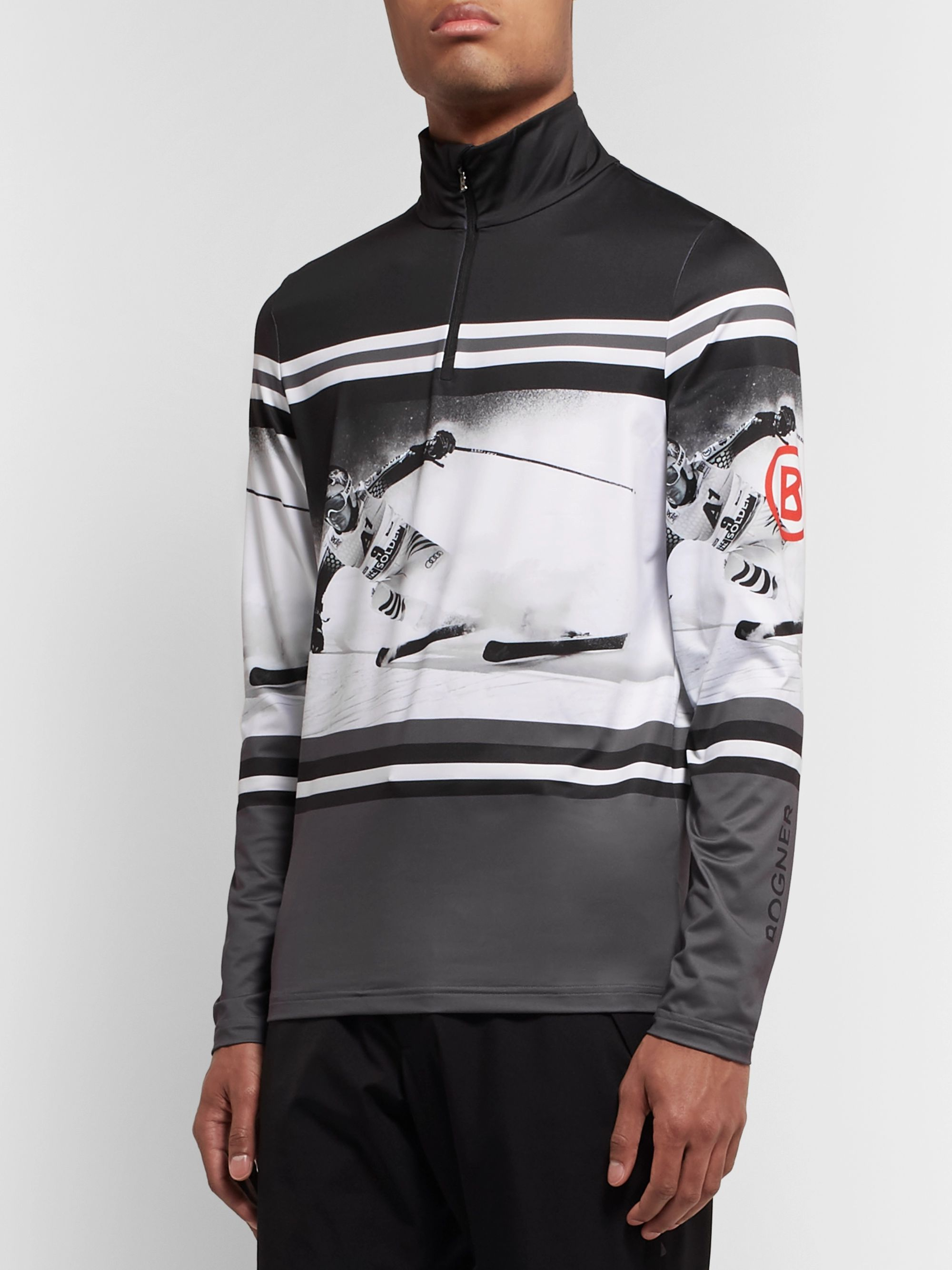 Bogner Verti Printed Stretch-Jersey Half-Zip Base Layer